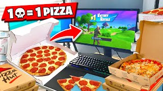 1 Elimination = 1 PIZZA Ordered To His House.. (Fortnite)