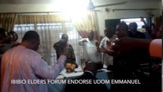 preview picture of video 'Ibibio Elder's Forum endorse Udom Emmanuel'