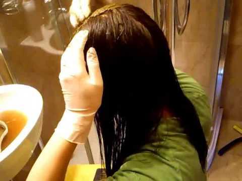 Rozmaz olej włosy przed praniem