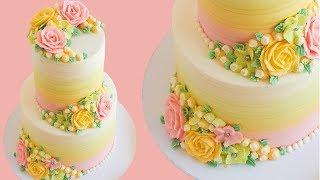 Elegant Buttercream Rose Cake Tutorial- Rosies Dessert Spot