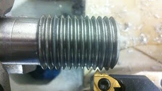 HOW TO THREAD ON LATHE MACHINE.  EXTERNAL AND INTERNAL THREADS