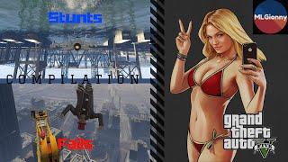 GTA 5 - STUNTS AND FAILS Compilation (2016)
