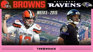 McCown GOES OFF in Unexpected Comeback! (Browns vs. Ravens Week 5, 2015)
