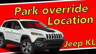 Park override release 2014-2019 Jeep Cherokee KL