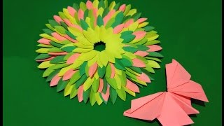Gambar cover Spring House decor.  Easy Paper wreath. Paper centerpiece.