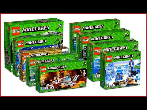 LEGO MINECRAFT COMPILATION All Sets of All Time Construction Toy Fast Speed Build - UNBOXING