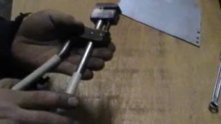 Самодельный дырокол, просекатель металла