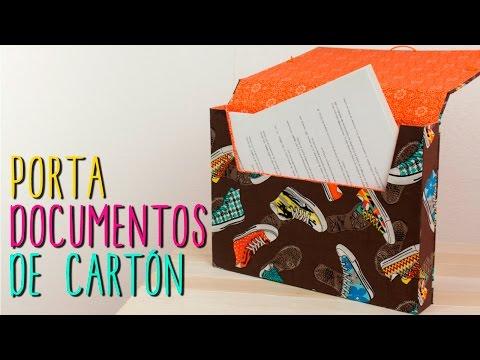 137708bde Cartera de Carton y Tela - Monedero Estilo Vintage - DIY | Manualidades