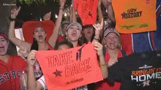 Astros fans excited after Houston's ALDS Game 5 win over Rays