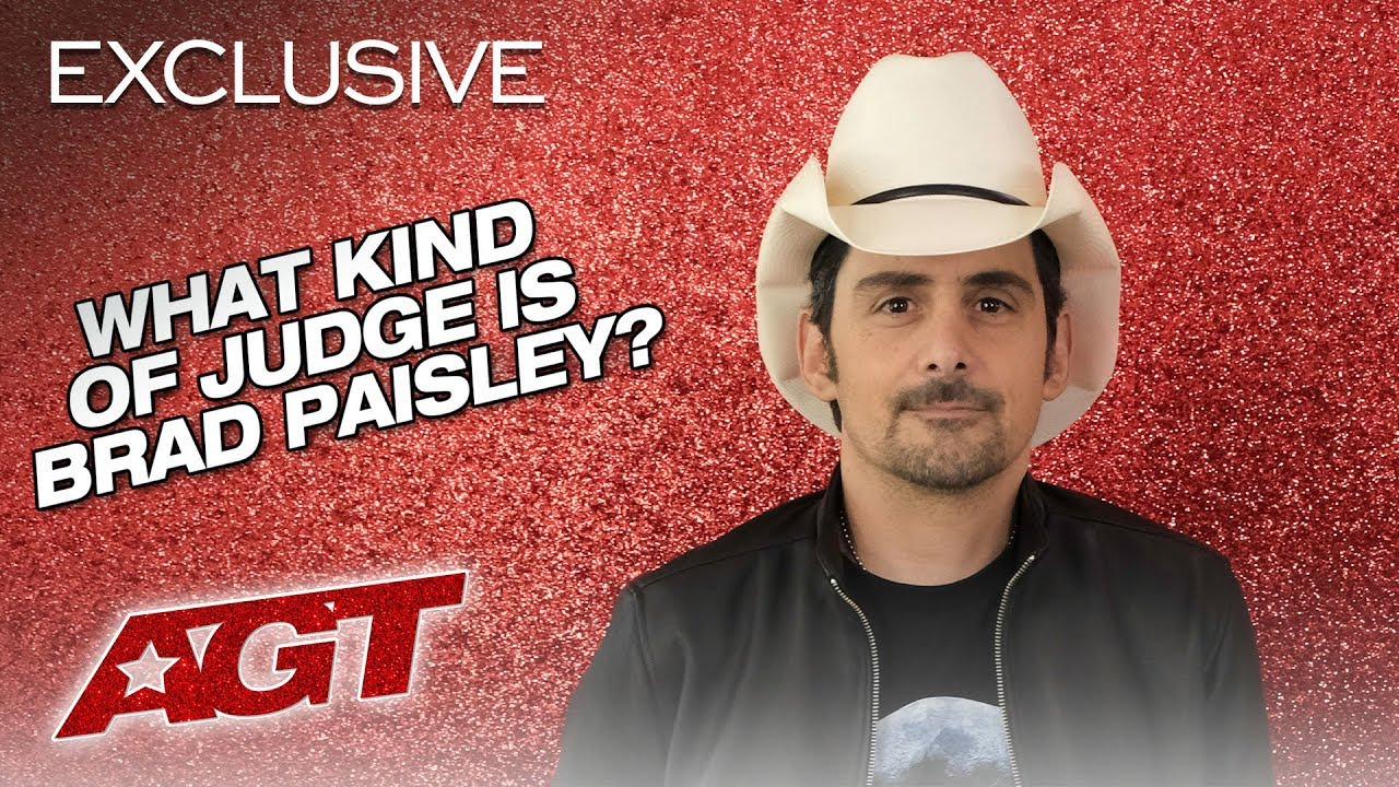 What Kind of Judge is Brad Paisley?! - America's Got Talent 2019 thumbnail