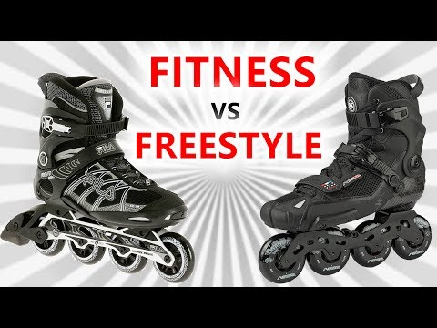 FITNESS VS FREESTYLE  INLINE SKATES