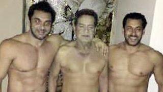 Salman Khan & Daddy Salim Khan Poses SHIRTLESS On