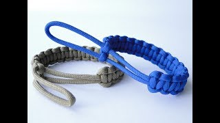 """How to Make a """"Mad Max Style"""" Paracord Bracelet with the Loop as a Closure and the Clean Final Knot"""
