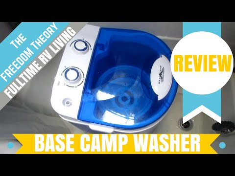 BASE CAMP PORTABLE WASHING MACHINE AND SPINNER REVIEW | The Freedom Theory