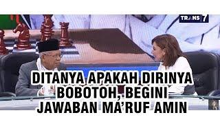 Ditanya Apakah Dirinya Bobotoh, Jawaban Ma'ruf Amin Buat Semua Penonton Mata Najwa Tertawa