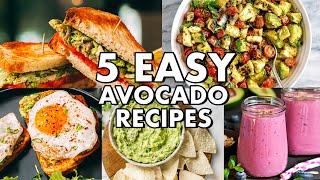 5 EASY AVOCADO RECIPES!! (QUICK & TASTY)