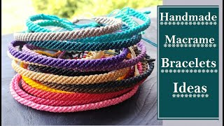 Handmade Friendship Bracelet Ideas| DIY Macrame Bracelet| How To Make Bracelets At Home|Creation&you