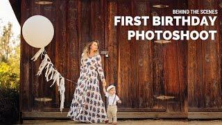 First Birthday Photoshoot With Adorable Boy, Cake Smash Fail, Sacramento Photographer