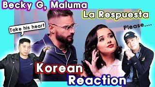 🔥(ENG) KOREAN BOYS React To Becky G, Maluma   La Respuesta💧💧