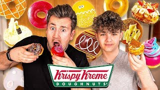 BROTHERS TRY EVERY FLAVOUR OF KRISPY KREME DOUGHNUTS