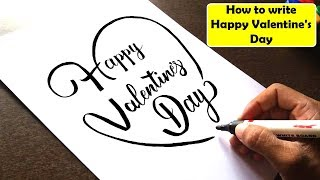 How to write Happy Valentine's Day