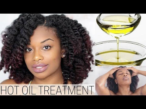 DIY HOT OIL TREATMENT FOR DRY AND FRIZZY NATURAL HAIR | journeytowaistlength