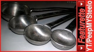 Metal Stainless Steel Measuring Spoons Set on Key Ring as Best Small Teaspoon & Tablespoon Sets