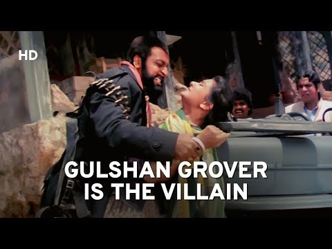 Gulshan Grover Trouble Villagers | Kasam | Anil Kapoor | poonam Dhillon | Hindi Action Movie