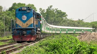 LHBfied Sirajganj Express Train negotiates with a beautiful rail curve || Bangladesh Railway
