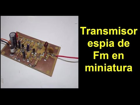 Transmisor espia de Fm en miniatura