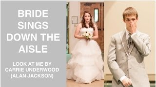 BRIDE SINGS DOWN THE AISLE (Ryan & Arianna's Wedding Day)