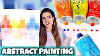 ABSTRACT PAINTING DEMO For Beginners - I Recreate Art With 35 Million Views?!