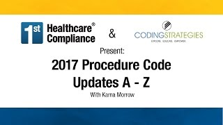 2017 Procedure Code Updates A - Z
