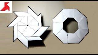 DIY - Как сделать 8-конечную оригами звезду трансформер из бумаги А4 своими руками?