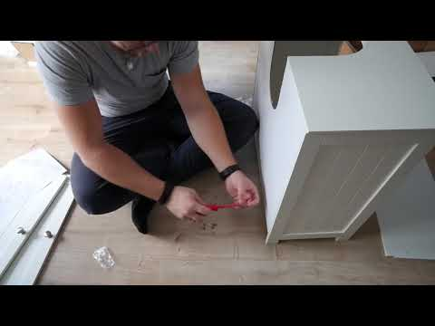 Unboxing - Waschbeckenunterschrank von HOMFA