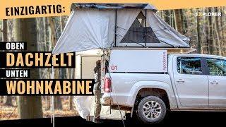 Ungewöhnlich: Mini-Kabine mit Maxi-Zelt für Pickups