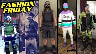GTA 5 Online: FASHION FRIDAY! (Dirty Cop, Sweet Tooth, Jyn Erso, Bandit & More)
