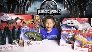 JURASSIC WORLD SUPRISE BOX! Indominus Rex, Velociraptor 4-Pack, Raptor Claws and more!