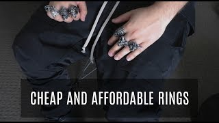 THE BEST RINGS ON A BUDGET + GIVEAWAY! | Mens Fashion | VerdugoVibes