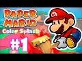 Paper Mario Color Splash 1 Gameplay Do In cio