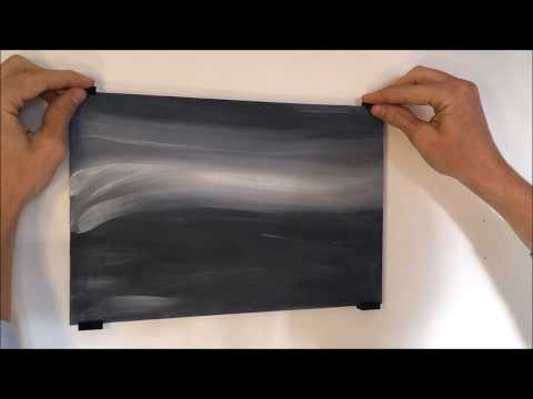 Malkarton Bild mit oder ohne Löcher aufhängen / befestigen Aufhängesystem Schrauben Bohren