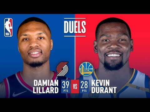 Damian Lillard and Kevin Durant Duel in the Bay Area | December 11, 2017
