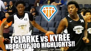 Kyree Walker vs Terrence Clarke!! | LOADED TEAMS at NBPA Top 100 Face Off in Front of NBA REPS