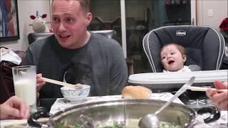 Vlog 338 ll Chồng Mỹ Lần Đầu Ăn Lẩu Hột Vịt Lộn Và Cái Kết Cười Lăn Lộn