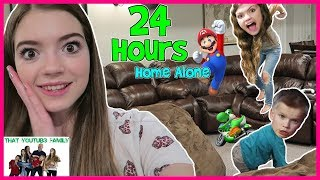 24 Hour Home Alone NO PARENTS! Teens Babysit  That YouTub3 Family