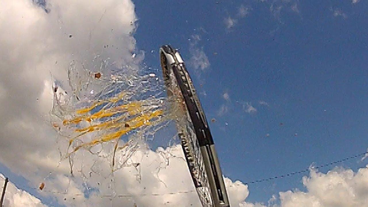 Tennis Racket  Hits Egg Slow Motion GoPro 120fps thumbnail