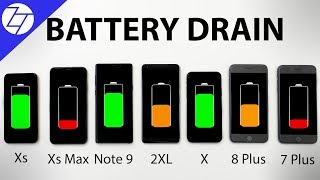 iPhone XS vs XS Max vs Note 9 vs Pixel 2 vs X vs 8 Plus vs 7 Plus - BATTERY DRAIN Test