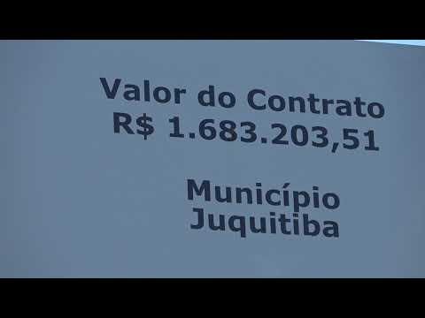 Placa anuncia investimento da Sabesp no Distrito dos Barnabés