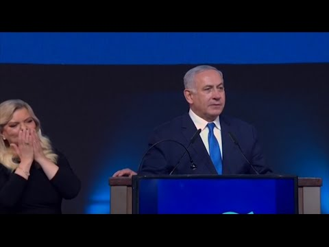 Israeli Prime Minister Benjamin Netanyahu appeared to be headed toward re-election early Wednesday, as exit polls and partial results showed him edging ahead of his main competitor in a tight race that was seen as a referendum on him. (April 10)