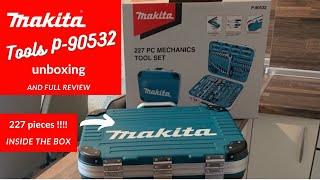 Werkzeugkasten Makita P-90532 227 Stück - Bewertung. Das beste Reparaturset für zu Hause - Makita